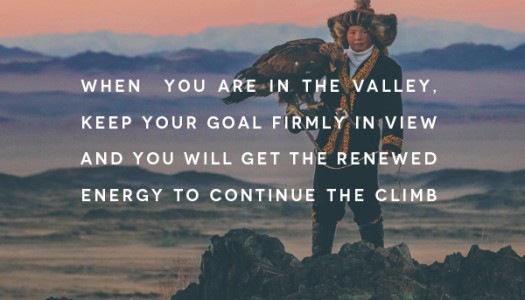 Keep Your Goal Firmly In View