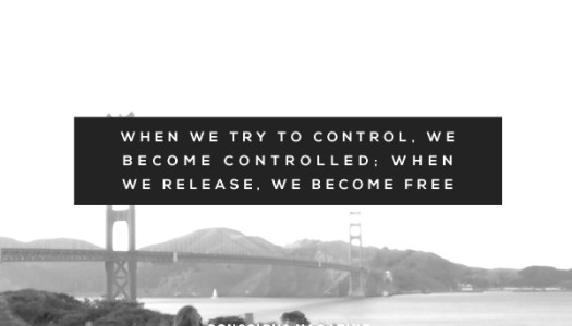 When We Release. We Become Free