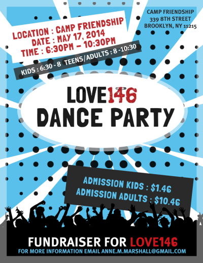 Love 146 Fundraiser Flyer