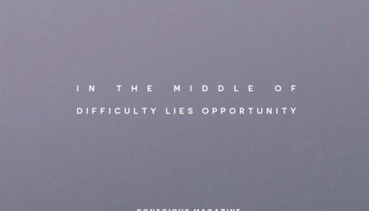 In the middle of difficulty lies opportunity