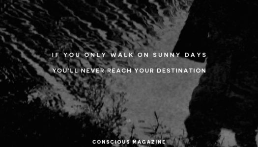 If you only walk on sunny days you'll never reach your destination