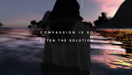 Compassion is so  often the solution