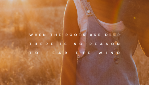 When the roots are deep there is no reason  to fear the wind